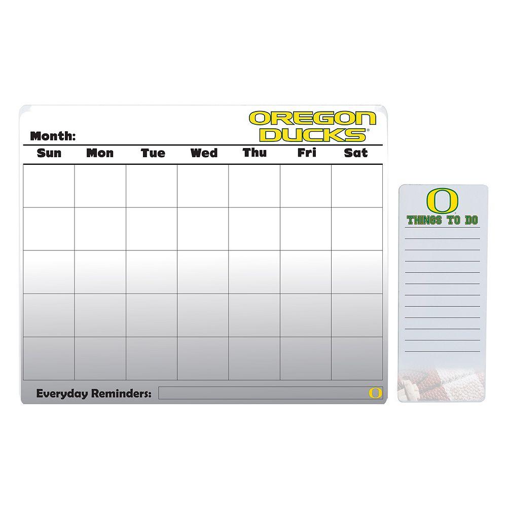 Oregon Ducks Magnetic Dry Erase Calendar & To-Do Board Set