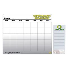 Oregon Ducks Magnetic Dry Erase Calendar & To-Do Board Set