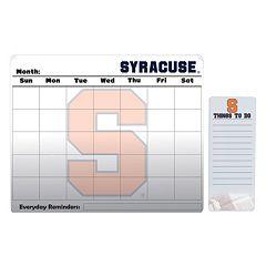Syracuse Orange Magnetic Dry Erase Calendar & To-Do Board Set