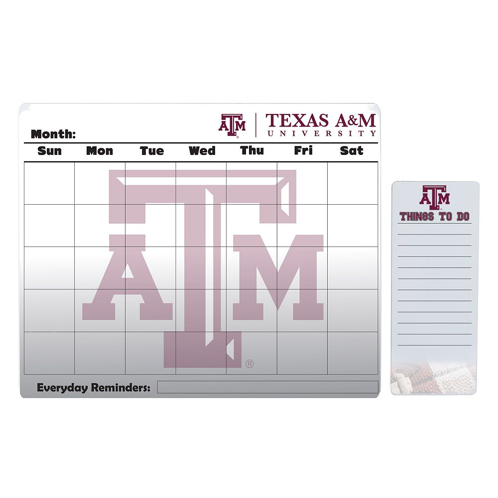 Texas A&M Aggies Magnetic Dry Erase Calendar & To-Do Board Set