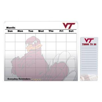 Virginia Tech Hokies Magnetic Dry Erase Calendar & To-Do Board Set