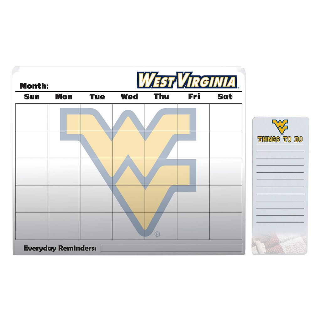 West Virginia Mountaineers Magnetic Dry Erase Calendar & To-Do Board Set