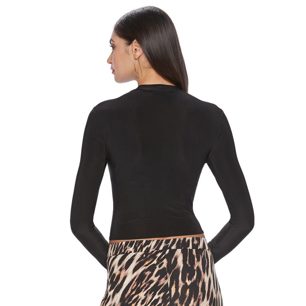 Women's Jennifer Lopez Luxe Essentials Mockneck Crop Top