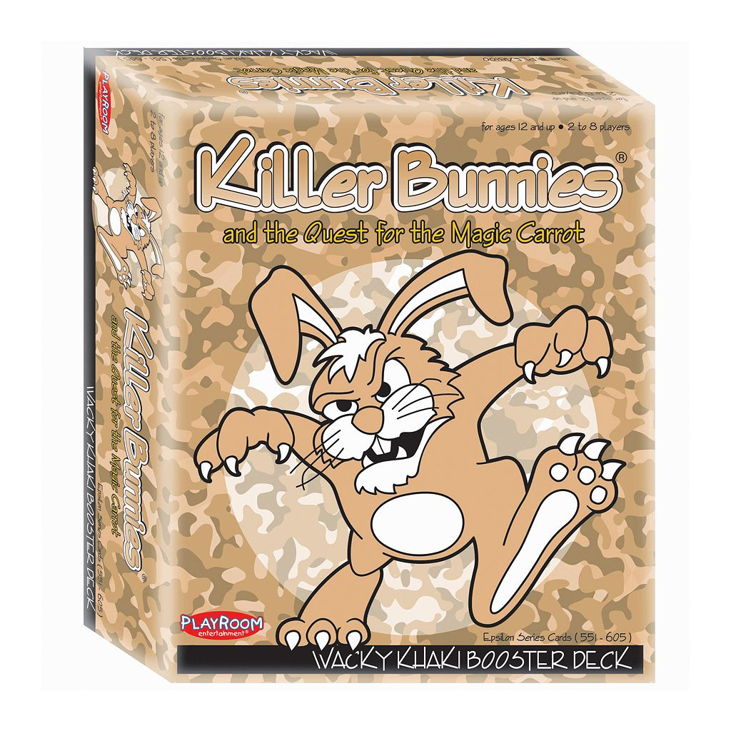Killer Bunnies and the Quest for the Magic Carrot Wacky Khaki Booster Deck by Playroom Entertainment
