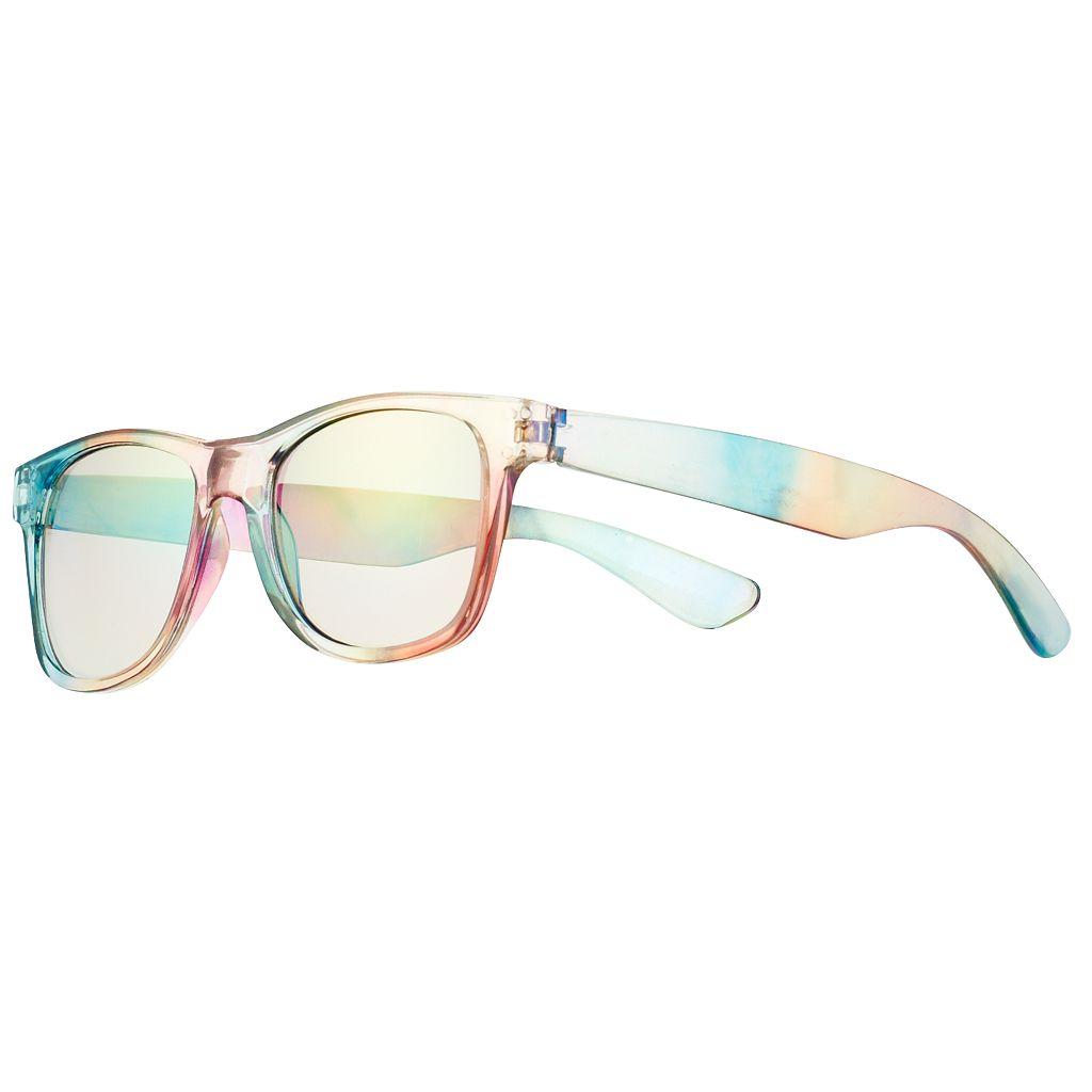 Girls 4-16 Rainbow Wayfarer Sunglasses