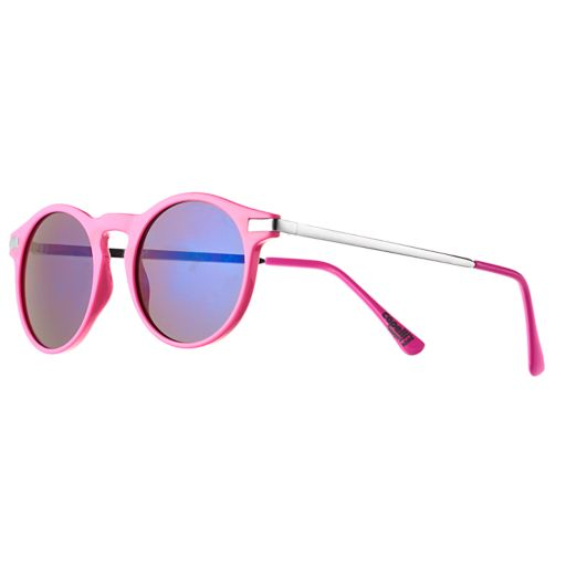 Girls 4-16 Mirror Lense Round Sunglasses