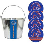 Boise State Broncos Metal Drink Bucket & Paper Coaster 5 pc Set