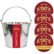 Iowa State Cyclones Metal Drink Bucket & Paper Coaster 5 pc Set