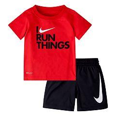 Baby Boy Nike 'I Run Things' Graphic Tee & Shorts Set