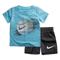 Baby Boy Nike Baseball Graphic Tee & Mesh Shorts Set