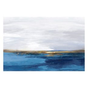 Pastoral Landscape Indigo Canvas Wall Art