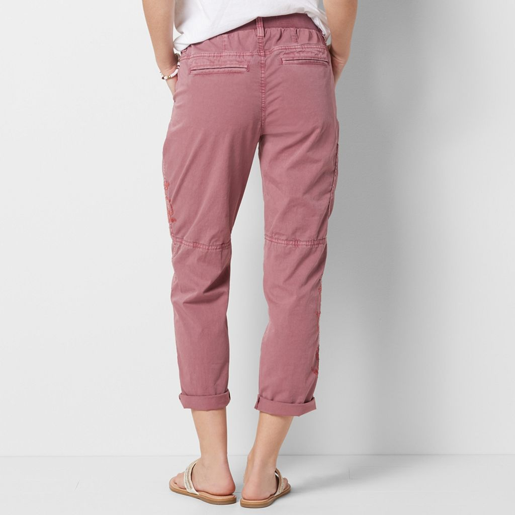 Women's SONOMA Goods for Life™ Embroidered Utility Capris