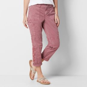 Women's SONOMA Goods for Life? Embroidered Utility Capris