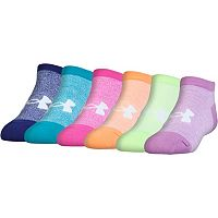 Girls 7-16 Under Armour 6 pkMarled No-Show Socks