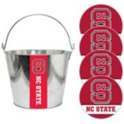 North Carolina State Wolfpack Metal Drink Bucket & Paper Coaster 5-piece Set