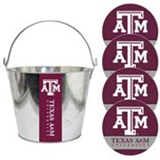 Texas A&M Aggies Metal Drink Bucket & Paper Coaster 5 pc Set