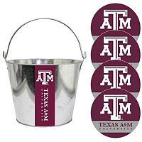 Texas A&M Aggies Metal Drink Bucket & Paper Coaster 5-piece Set