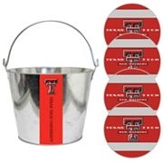 Texas Tech Red Raiders Metal Drink Bucket & Paper Coaster 5 pc Set