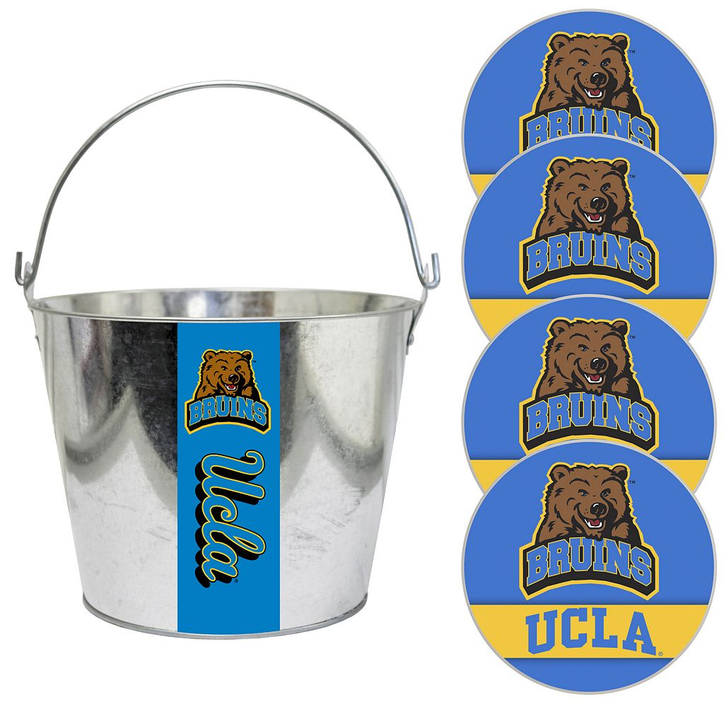 UCLA Bruins Metal Drink Bucket & Paper Coaster 5-piece Set