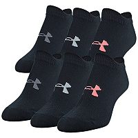 Girls 7-16 Under Armour 6 pkNo-Show Socks