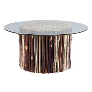 INK+IVY Topi Glass Top Coffee Table