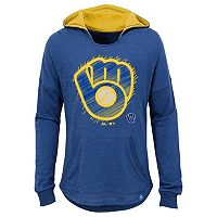 Girls 7-16 Majestic Milwaukee BrewersThe Closer Pullover Hoodie