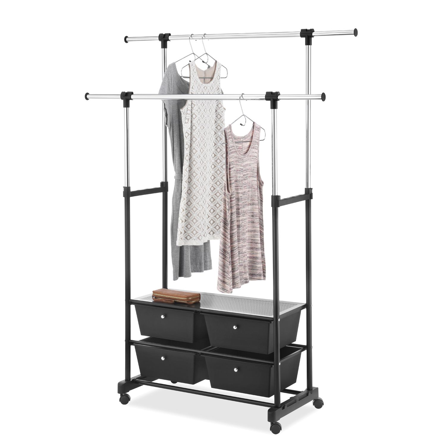 Whitmor Double Rod Garment Rack