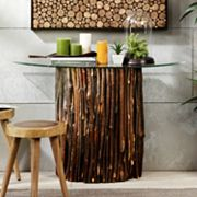 INK+IVY Topi Half Moon Console Table