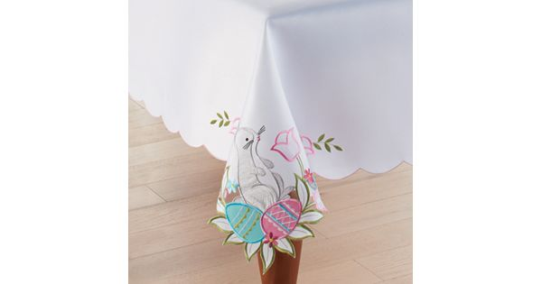 Celebrate Easter Together Cut Out Bunny Tablecloth