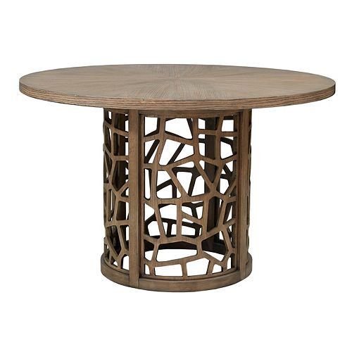INK+IVY Crackle Round Dining Table