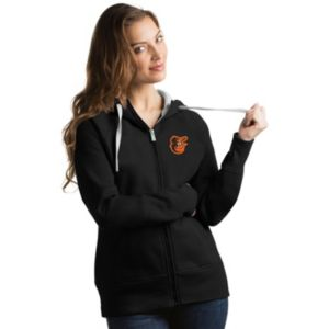 Women's Antigua Baltimore Orioles Victory Full-Zip Hoodie