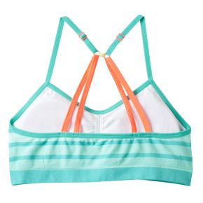 Girls 7-16 Maidenform Striped Dip-Dyed Crop Bra