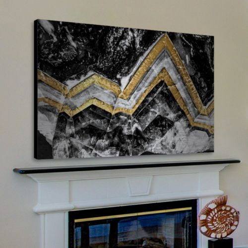 Marmont Hill Gold Bands Aluminum Wall Art