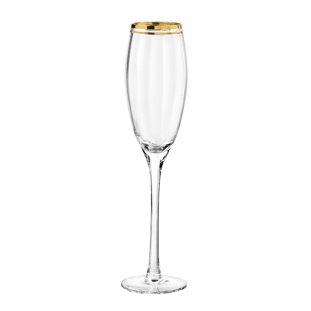 Qualia Tivoli Gold 4-pc. Champagne Flute Set