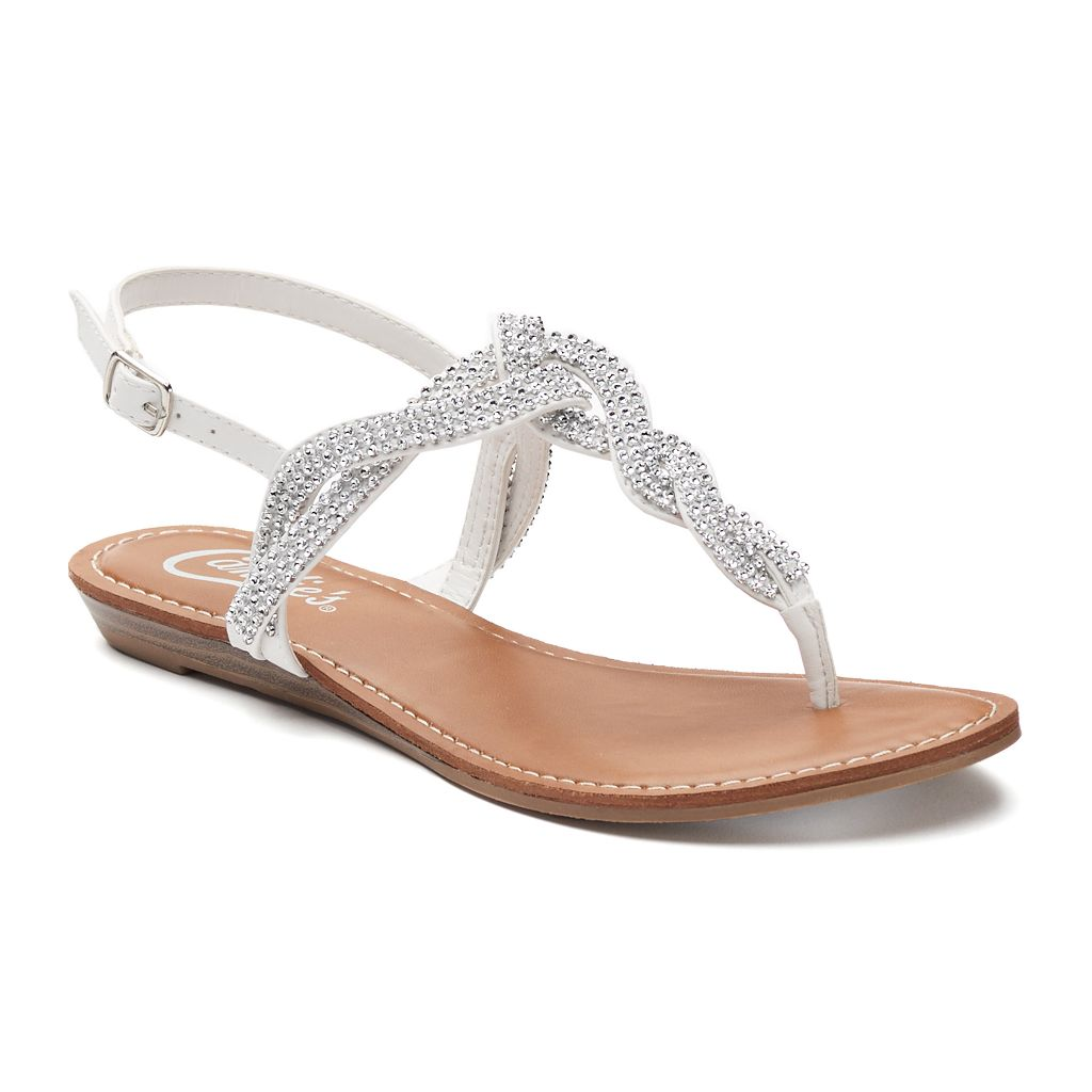Candie's® Women's Embellished Slingback Sandals