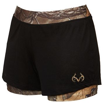 Women's Realtree Altitude Camo Mesh Layered Shorts
