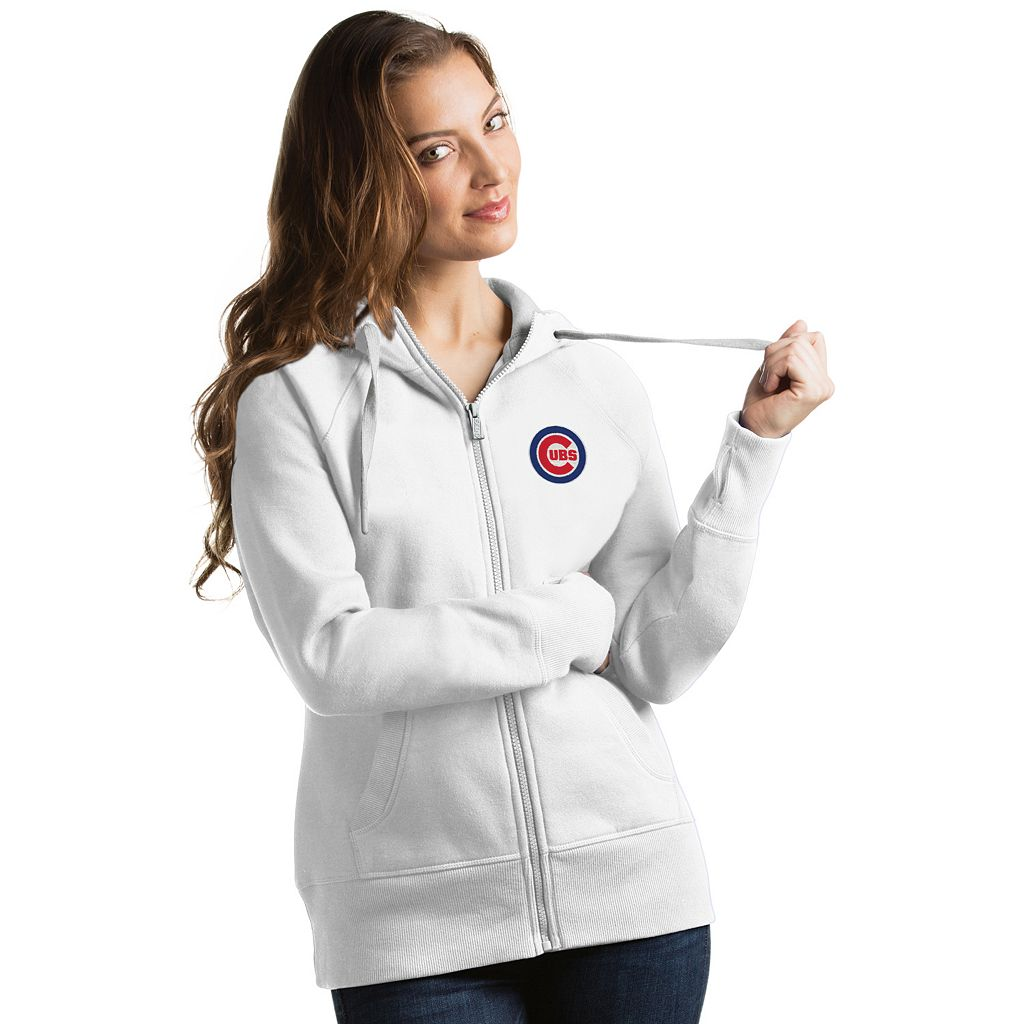 Women's Antigua Chicago Cubs Victory Full-Zip Hoodie