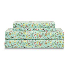 Grand Collection Seaside Microfiber Print Sheet Set