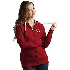 Women's Antigua Cincinnati Reds Victory Full-Zip Hoodie