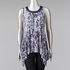 Petite Simply Vera Vera Wang Printed Handkerchief Top