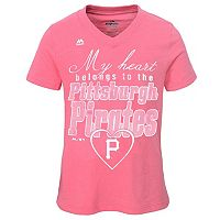 Girls 7-16 Majestic Pittsburgh Pirates My Heart Belongs To Tee