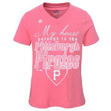 Girls 7-16 Majestic Pittsburgh Pirates My Heart Belongs To Tee