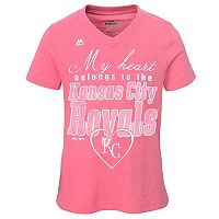 Girls 7-16 Majestic Kansas City Royals My Heart Belongs To Tee