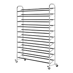 Whitmor 60-Pair Rolling Shoe Rack