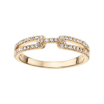 LC Lauren Conrad Pave Buckle Ring