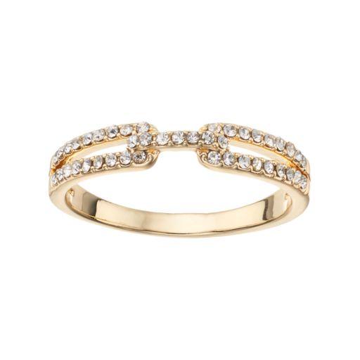 LC Lauren Conrad Pave Buckle Ring