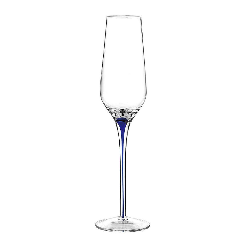 Qualia Tempest Cobalt 4-pc. Champagne Flute Set