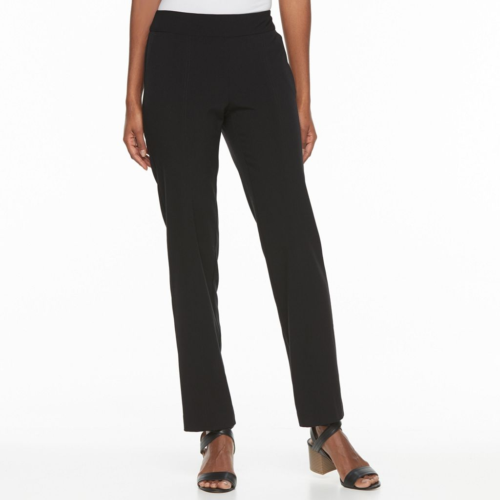 Petite Croft & Barrow® Polished Pintuck Pull-On Pants
