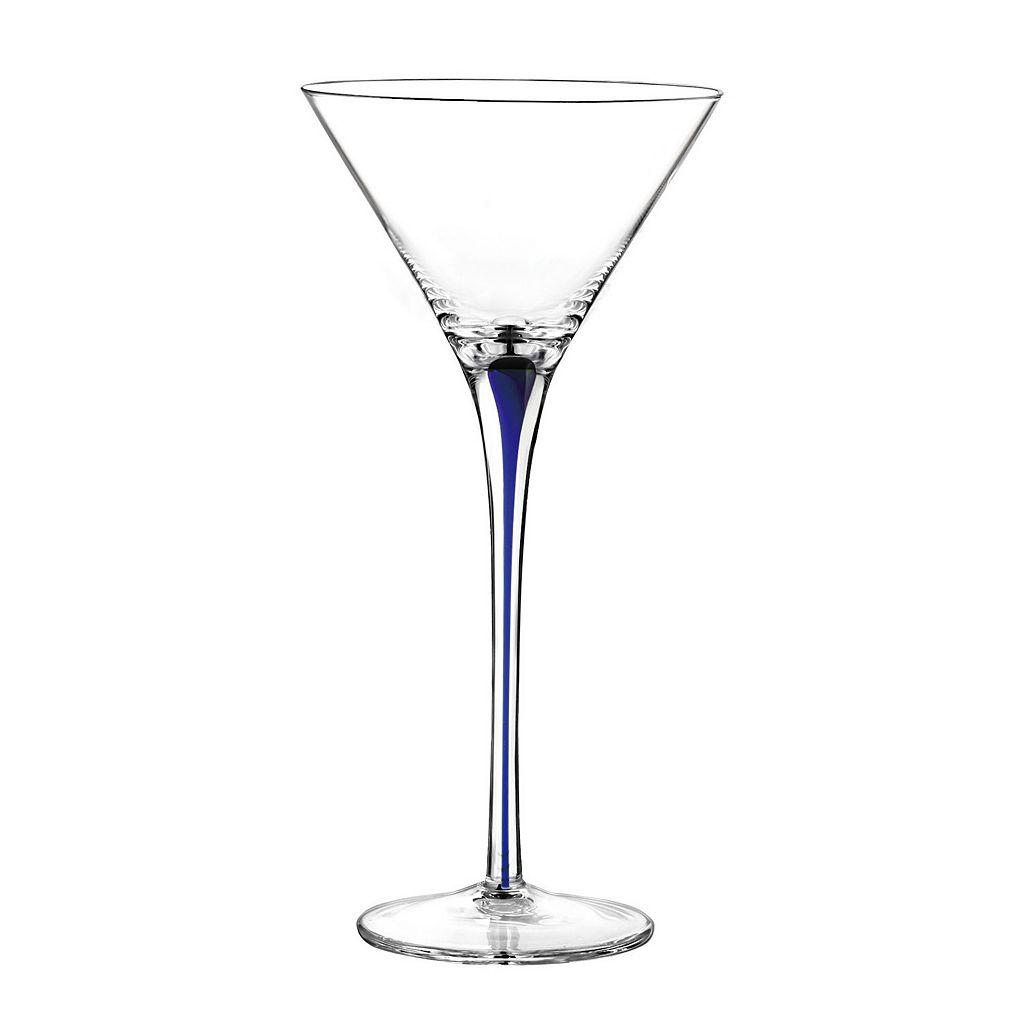 Qualia Tempest Cobalt 4-pc. Martini Glass Set