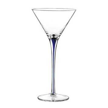 Qualia Tempest Cobalt 4-pc. Martini Glass Set